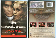 SLEEPY HOLLOW JOHNNY DEPP PARAMOUNT REGION 1 NTSC DVD