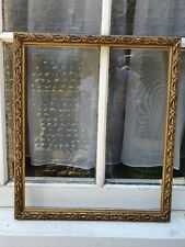 """ANTIQUE STYLE GOLD GILT WOOD PHOTO  PICTURE RECTANGLE FRAME 16""""W x 18 1/2""""D"""