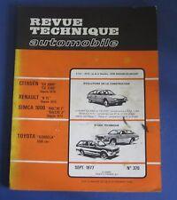 Revue technique RTA 370 Toyota corolla 1200 cm3