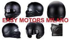 Casco Scorpion Exo Combat Stile Militare per Moto e Scooter Nero opaco vernicato