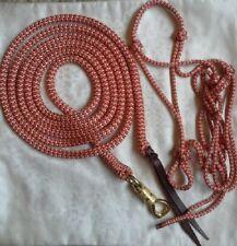 Standard (Cob) Rope Halter & 12ft Lead Rope Brass Swivel Snap Natural Equipment
