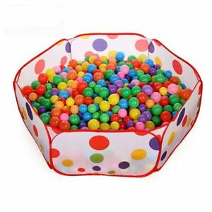 Colorful Balls Baby Kid Secure Pit Toy Soft Plastic Fun Colorful  Out-Indoor