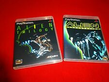 EMPTY Replacement Cases ALIEN RESURRECTION + Trilogy --- PLAYSTATION PS1 2000