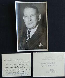 Président René COTY autographe