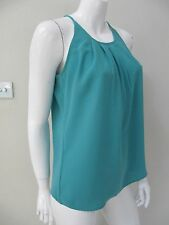 VALLEYGIRL sz 8/XS pleated green top AS NEW