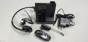 Plantronics SAVI W745 w/W02 Base Headband AC Adapter Phone Cable USB Cable Test