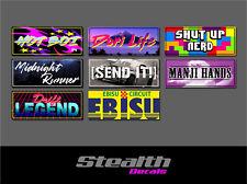 8x Drift Slap Sticker Pack Decal, Sticker Bomb, Stance, Initial D 002