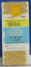 NEW Sealed 3 yds Vintage GOLD Metallic RICK RACK by WRIGHT'S