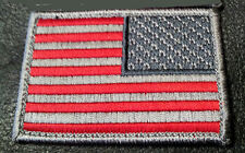 Tactical USA Flag Subdued reversed MILITARY 3.0 INCH  ACU COMBAT HOOK PATCH