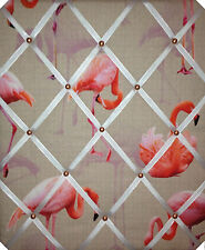 Fabulous Lush Flamingo Print, RIBBON MEMO MESSAGE PINBOARD LARGE NOTICE BOARDS