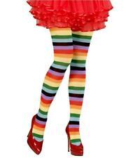 Collant Arcobaleno A Righe Per Costume Carnevale PS 10115