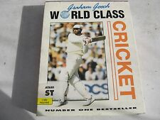 """USED 'GRAHAM GOOCH WORLD CLASS CRICKET'WITH MANUAL AND 3 1/2"""" DISK ATARI ST GAME"""