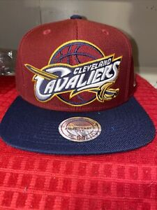 Cleveland Cavaliers NBA Mitchell & Ness Snapback Hat Brand New