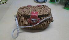Vintage Woven Straw Purse Handbag