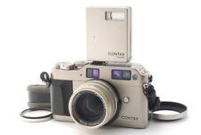 Contax G1 Rangefinder Film Camera Body w/Planar 45mm F/2 Lens TLA140 Flash C89