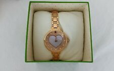 KATE SPADE Ladies Metro Vachetta Steal Watch Band Gold Rose Plated - KSW1254