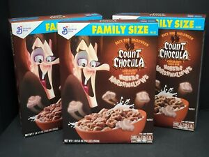 Count Chocula Cereal - 12ct Sealed 19.5oz Family Size Boxes
