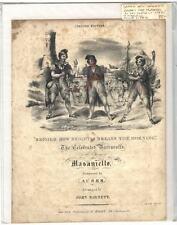 Rare Antique Original VTG c 1850 Masaniello Auber Opera Piano Sheet Music Print