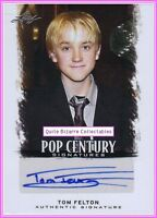 Tom Felton Draco Malfoy Hand-Signed Auto Card Harry Potter Autograph
