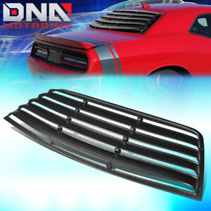 FOR 2008-2019 DODGE CHALLENGER ABS REAR WINDSHIELD SUN SHADE WINDOW SCOOP LOUVER