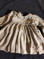 ANTIQUE silk dress  for FRENCH doll Jumeau Steiner Bru antique lace size 8-9