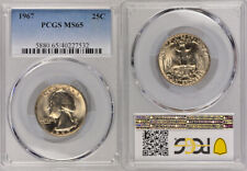1967 PCGS MS65 UNCIRCULATED WASHINGTON QUARTER COIN ! EXCELLENT COIN !