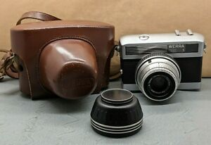 Lovely Vintage Carl Zeiss Jena Werra 1 35mm Camera With Tessar 2.8/50 Lens SU189