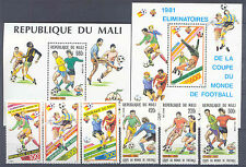 Fútbol-WM 1982, soccer-malí - 833-835, 908-910, bl.15, 20 ** mnh