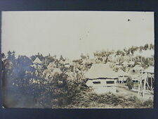 Philippines Islands Village Nipa Hut View Antique Real Photo Postcard RPPC c1915