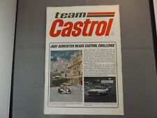 TEAM CASTROL NEWSLETTER #4 - 1977 - F1 TOURING CARS RALLY JODY SCHECKTER