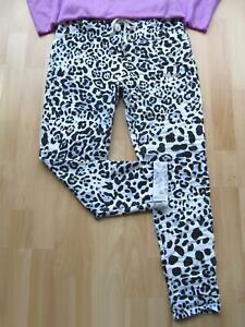 Schöne LEO Jogpant Joggpants Jogginghose Hose Taschen 36 38 40 weiß grau schwarz