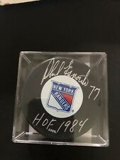 Phil Esposito Autographed Signed New York Rangers Puck 1984 COA!