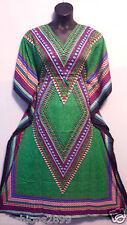 Women's Caftan Dress New dashiki Print Kaftan Hippie Maxi Gown Plus size Green