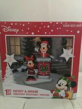 Disney Gemmy 6 ft Christmas Mickey & Minnie Mouse Chimney Airblown Inflatable
