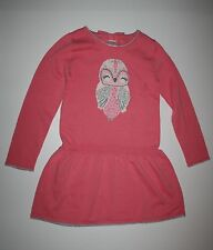 New Gymboree Girls Candy Pink Sparkly Owl Sweater Dress 4 yr NWT Cozy Fairytale