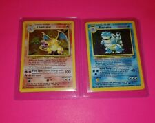 Charizard & Blastoise Pokemon Cards - Original Rare Holos - Base Set Foils