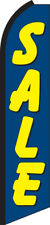 Sale Blue/Yellow Swooper Flag Feather Super Bow Banner