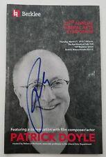 Patrick Doyle Signed Program Berklee Movie Score Composer Rare Autograph RAD