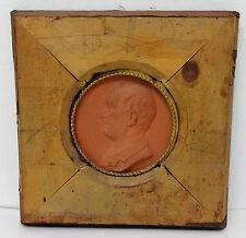 L. PRIEUR-BARDIN - Médaillon en terre cuite portrait de profil sculpture XIXe