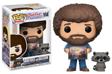 Funko Pop Television The Joy of Painting Bob Ross with Raccoon Figure 25701 Toy