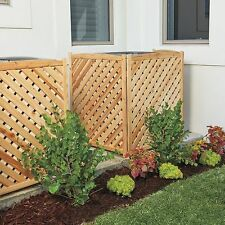 38 Wood 3 Panel Air Conditioner Screen Cover Outdoor Privacy Fencing 4 Colors