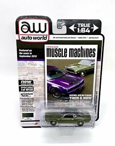 Auto World Hemmings Muscle Machines 1970 Dodge Challenger R/T HEMI W/Out Shaker