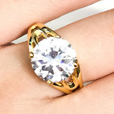 4 Ct Round Solitaire Diamond Ring Gold Plated Women Jewelry Gift Size 6