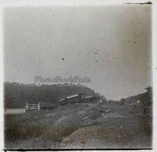 Chemin de fer Train Afrique Noir Plaque stereo Positif c1910 N10