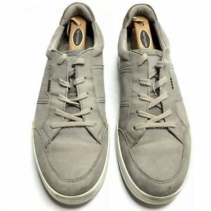 ECCO Casual Shoes Sneakers Grey Dove Leather Men's 45 11 11.5