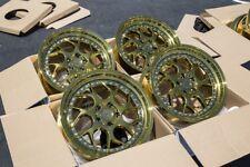 18x8.5 AodHan Ds01 5x112 +35 Gold Vacuum Wheels Fits Audi A4 Passat (Used)