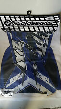 Flu Designs TS1 YZF250 YZF 250 Blue Sticker Kit 2010 11 12 2013 With Seat Cover