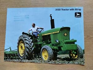 JOHN DEERE 3130 TRACTORS COLOUR FARMING RARE TRACTOR BROCHURE PRE USED GOOD COND