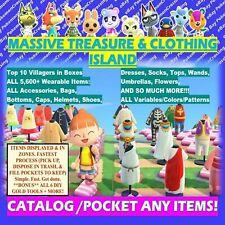 Treasure Island ALL WEARABLE: Catalog & Loot  Any: Animal Crossing (ACNH)