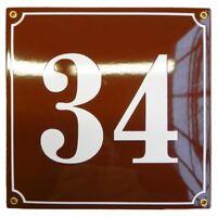 Hausnummer Hausnummernschild Emaille 25x25 cm mit Wunschnummer Premiumqualität
